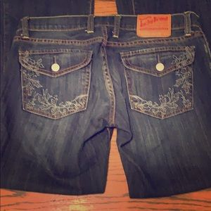 Lucky Brand Lil Maggie Flare Jeans 27 2 button fly